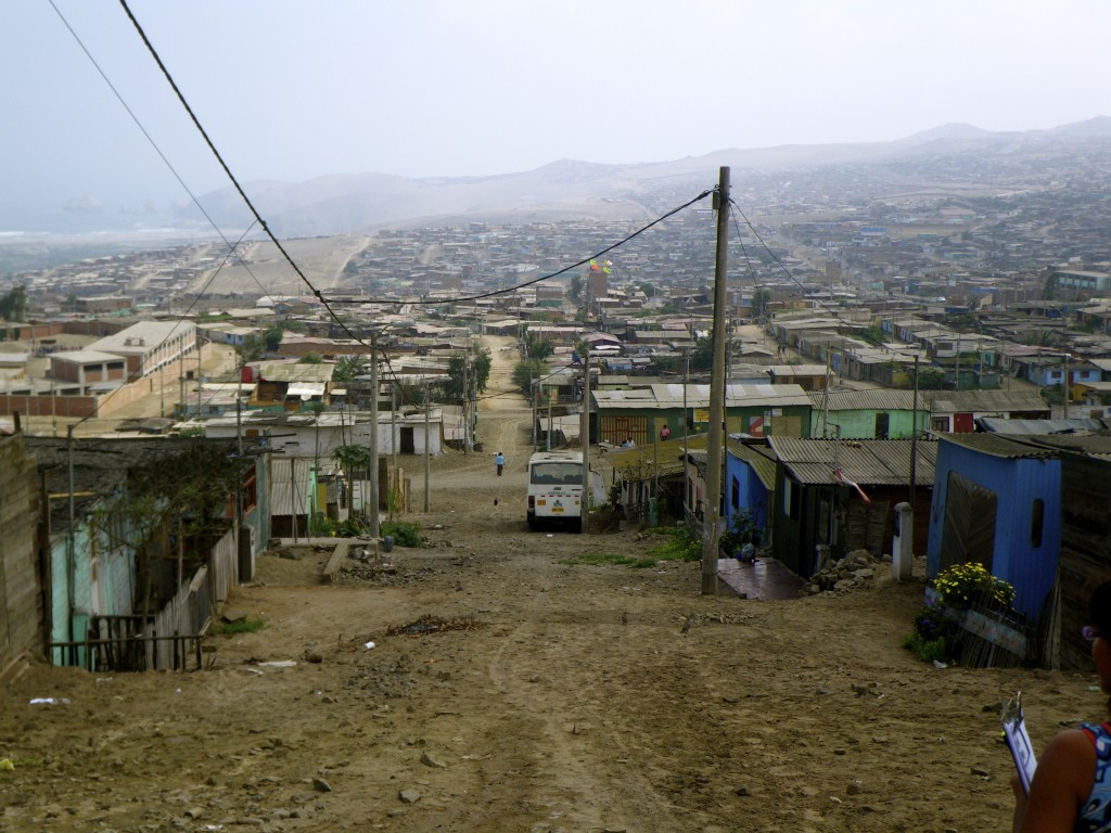 Ventanilla: a poor shantytown on the outskirts of Lima, Peru.
